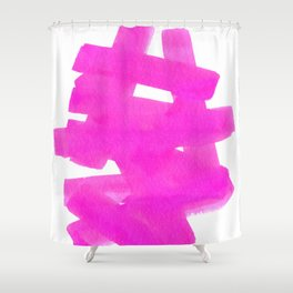 Superwatercolor Pink Shower Curtain