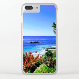 Tropical Scenic Overlook Clear iPhone Case