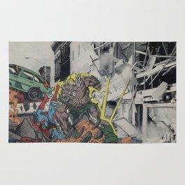 It's Doomsday, Doomsday! - Vintage Collage Rug