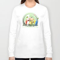 super smash bros Long Sleeve T-shirts featuring Olimar - Super Smash Bros. by Donkey Inferno