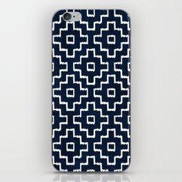 Blue Geometric Pattern iPhone Skin
