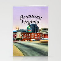 virginia Stationery Cards featuring Roanoke Virginia by ThePhotoGuyDarren