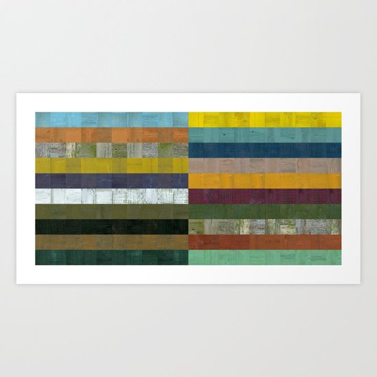 Wooden Abstract Vlll Art Print