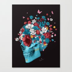 Skull Life Black Canvas Print