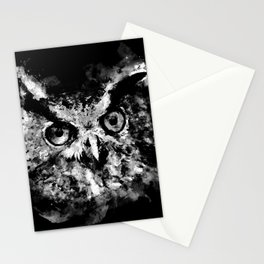 owl perfect black white Stationery Cards