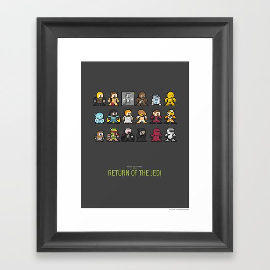 Mega Star Wars: Episode IV - Return of the Jedi Framed Art Print