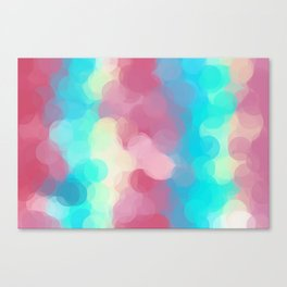 pink blue and yellow circle pattern abstract background Canvas Print