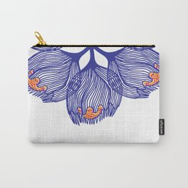 Blue spiral flower Carry-All Pouch