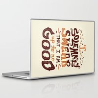 risa rodil Laptop & iPad Skins featuring I am up to no good by Risa Rodil