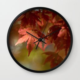 Japanese Maple Red Wall Clock