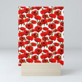 Red Poppy Pattern Mini Art Print