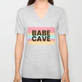 Babe Cave Creamy Spring Unisex V-Neck