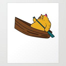 Rowing Boat Paddle Boat Rowing Gift Canoe Kayak Art Print