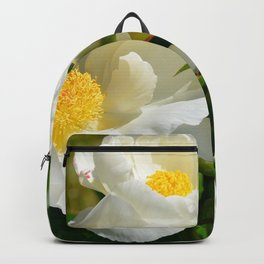 White Peony by Teresa Thompson Backpack