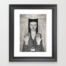 Forest Girl Framed Art Print