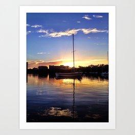 Lone Sail Art Print