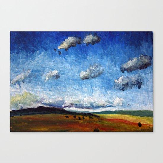 Oil landscape/seasons Canvas Print