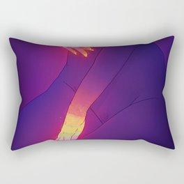 Glowing Hands 3 Rectangular Pillow