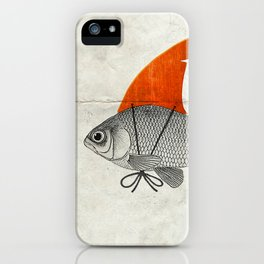 Goldfish with a Shark Fin iPhone Case