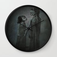 happiness Wall Clocks featuring happiness by meme