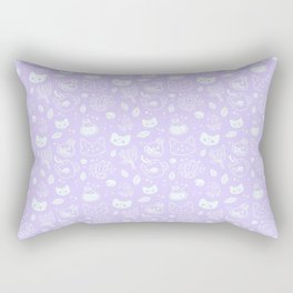 Herb Witch // Purple Pastel Rectangular Pillow