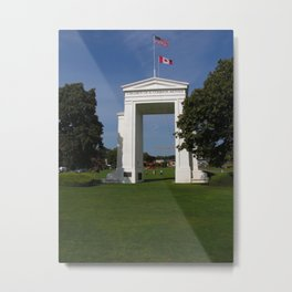 Freedom Arch - US Canadian Border Metal Print