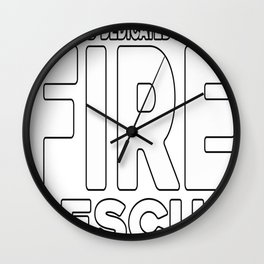 Motivated Dedicated Fearless Fire Rescue Wall Clock