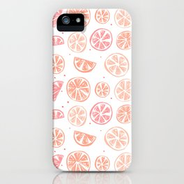 Paloma Grapefruit White iPhone Case