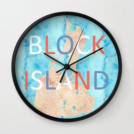 Block Island map Wall Clock