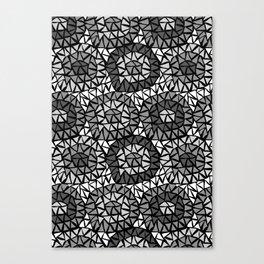 Triangels grey Canvas Print