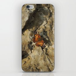 Butterfly on the mountain top iPhone Skin