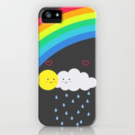 the truth about rainbows iPhone Case