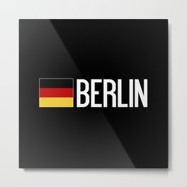 Germany: German Flag & Berlin Metal Print