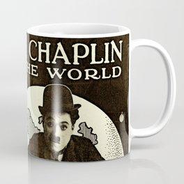 Charlie Chaplin Covers the World Coffee Mug