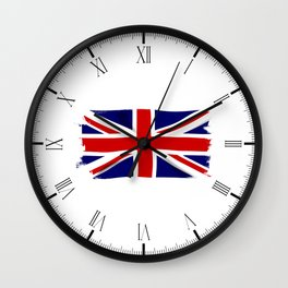 Union Jack Grunge Wall Clock