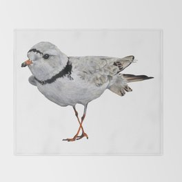 Piping Plover Throw Blanket