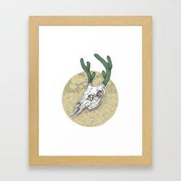 Deer Cactus Framed Art Print