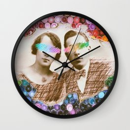 Coloring Around Us Wall Clock