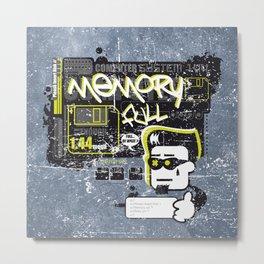 Memory full Metal Print