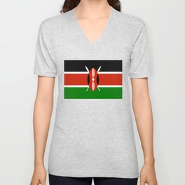 Kenyan flag of Kenya Unisex V-Neck