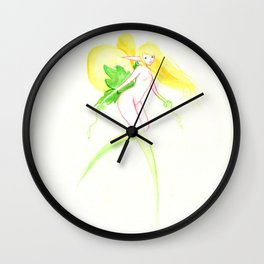 Spring fairy Wall Clock