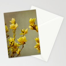 magnolias yellow Stationery Cards