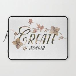 Create wonder message Laptop Sleeve