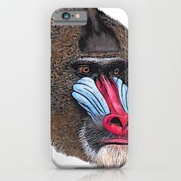 Mandrill Face Mammal Two-tone Muscular Nose White sphinx iPhone Case
