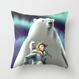 Lyra of the Golden Compass Throw Pillow