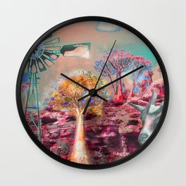 Wind Punk Quiver Heat Wall Clock