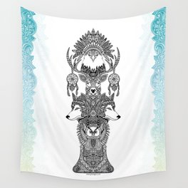 Indian Totem Wall Tapestry