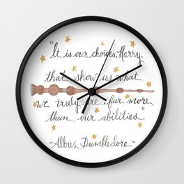 Choices Quote Wall Clock