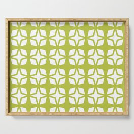 Mid Century Modern Star Pattern Chartreuse 552 Serving Tray