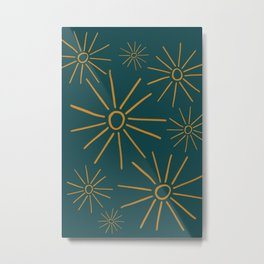 The Suns In The Golden Green Metal Print